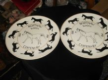 2 RARE LIMITED EDITION (500) WEDGWOOD PLATE CENTENARY NORTHAW SCHOOL 1981 GOODEY